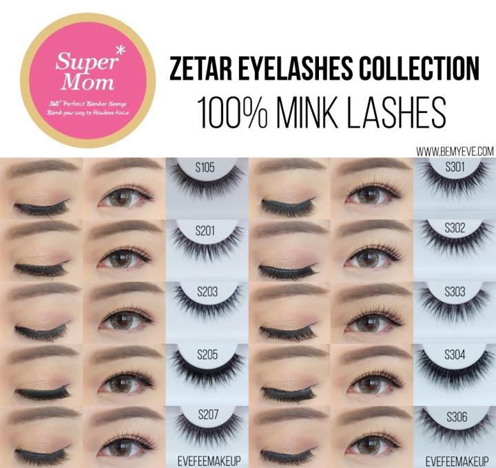 ขนตาปลอม Supermom Zetar eyelashes collection 100% minklashes